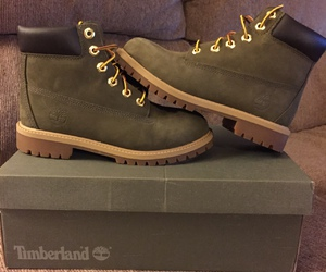 shoes, timberland, and green image