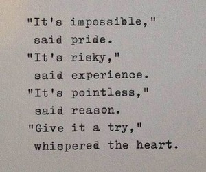 heart, quote, and try image
