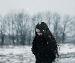 cold, flickr, and girl image