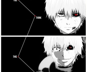 anime, horror, and black and white image