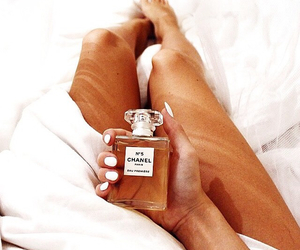 bed, parfume, and white image