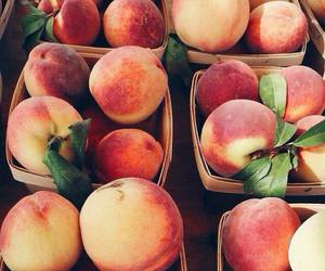 peach, fruit, and food image