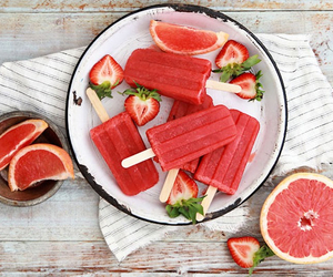 summer, food, and red image