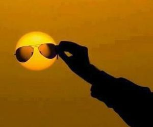sun and sunglasses image