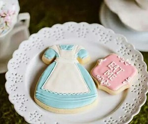 alice in wonderland, Cookies, and alice image