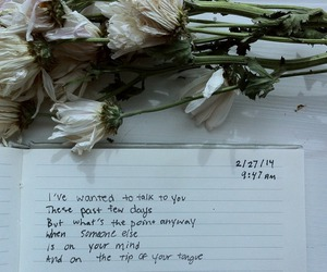flowers, quotes, and grunge image