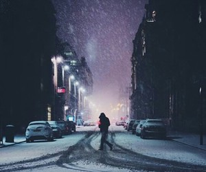snow, winter, and alone image