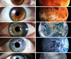 eyes, planet, and eye image