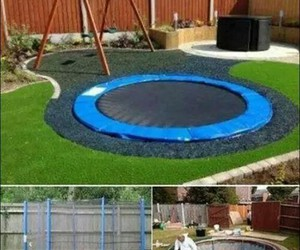 trampoline, fun, and kids image