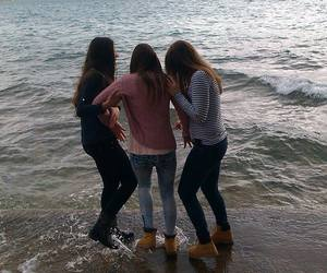 best friends and sea image