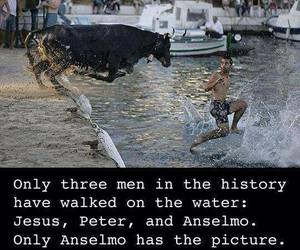 funny, water, and jesus image