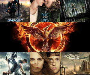 divergent, movies, and the hunger games image