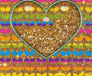 glitter and heart image