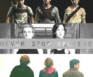 harry potter, the maze runner, and the hunger games image