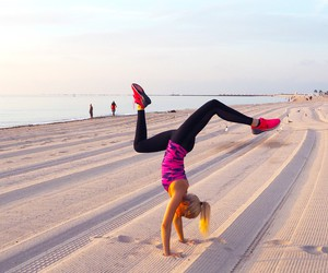 fit, girl, and handstand image