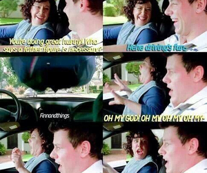funny, glee, and cory monteith image