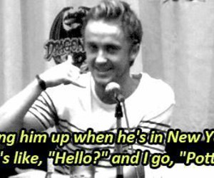 tom felton, harry potter, and funny image
