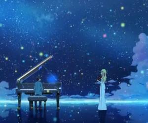 anime, music, and piano image