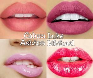 lips, luke hemmings, and 5sos image