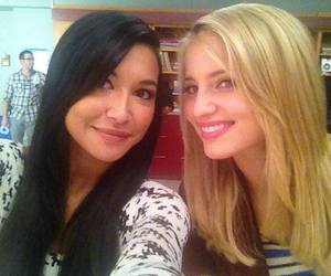 dianna agron, naya rivera, and glee image