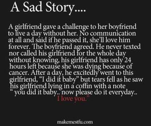 sad, love, and story image