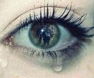 sad, cry, and eye image