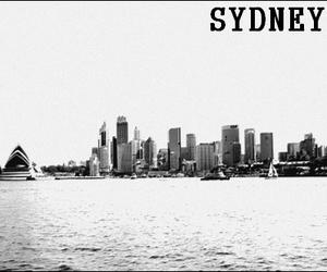 australia, black and white, and noir et blanc image
