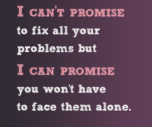 quote, promise, and love image