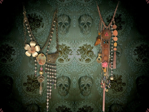jewelry, necklaces, and skulls image
