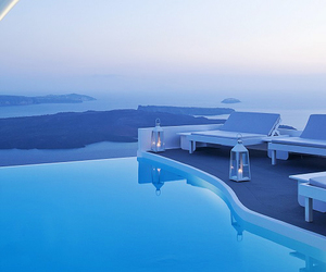 blue, luxury, and pool image