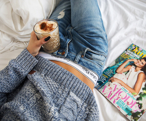 fashion, bed, and coffee image