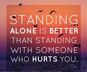 alone, quote, and hurt image