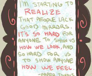 john green, mirror, and quote image