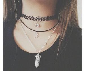 black, necklace, and grunge image
