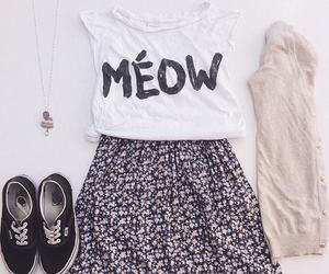 meow, outfit, and vans image