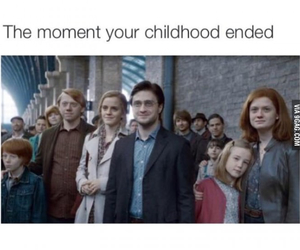 harry potter, childhood, and sad image