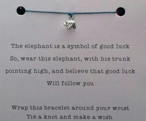 bracelet, dreams, and elephant image