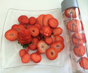 fitness, strawberries, and strawberry image
