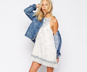 asos, blond, and dress image