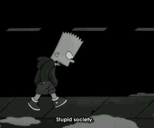 society, stupid, and simpsons image