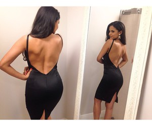 dress, body, and brunette image