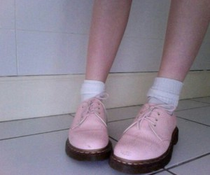 pink, pale, and shoes image