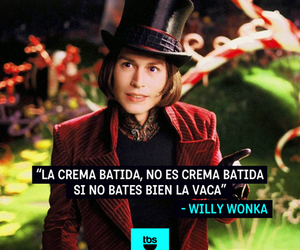 Willy Wonka, very funny, and leche image