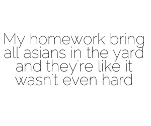 asian, funny, and homework image
