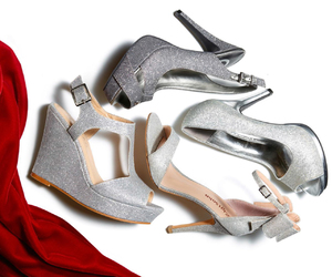 macys, shoes, and silver shoes image