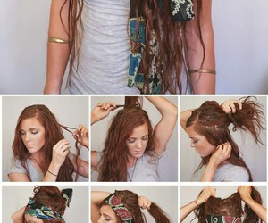 boho, hairstyle, and hair image