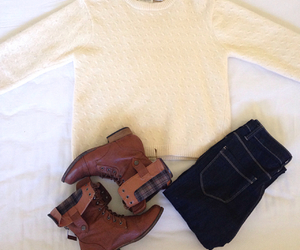 boots, clothes, and comfy image