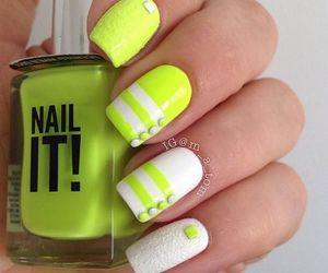 nails, nail art, and neon image