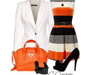 black, dress, and white image
