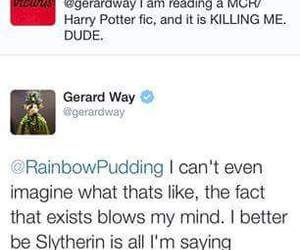 gerard way, harry potter, and my chemical romance image
